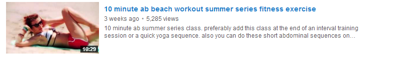 10 minute ab beach workout summer series fitness exercise