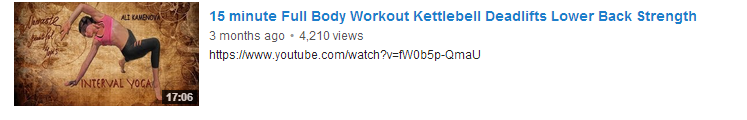 15 minute Full Body Workout Kettlebell Deadlifts Lower Back Strength