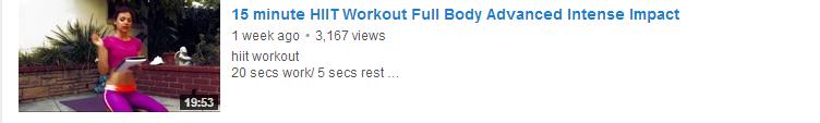 15 minute HIIT Workout Full Body Advanced Intense Impact