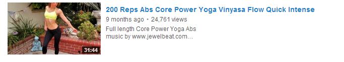 200 Reps Abs Core Power Yoga Vinyasa Flow Quick Intense