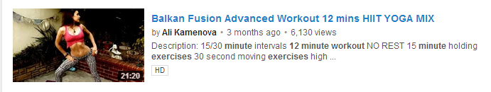 Balkan Fusion Advanced Workout 12 mins HIIT YOGA MIX