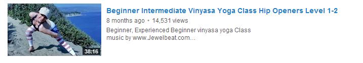 Beginner Intermediate Vinyasa Yoga Class Hip Openers Level 1-2