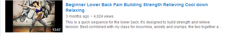 Beginner Lower Back Pain Building Strength Relieving Cool down Relaxing