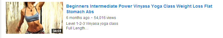 Beginners Intermediate Power Vinyasa Yoga Class Weight Loss Flat Stomach Abs
