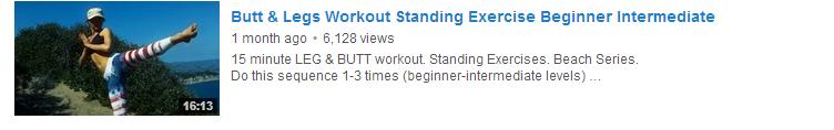 Butt & Legs Workout Standing Exercise Beginner Intermediate