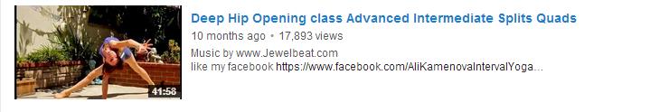 Deep Hip Opening class Advanced Intermediate Splits Quads