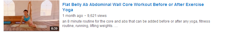 Flat Belly Ab Abdominal Wall Core Workout Before or After Exercise Yoga