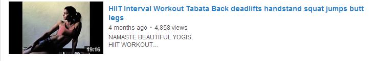 HIIT Interval Workout Tabata Back deadlifts handstand squat jumps butt legs