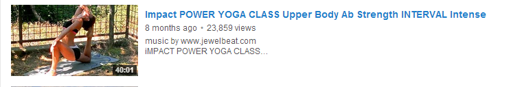 Impact POWER YOGA CLASS Upper Body Ab Strength INTERVAL Intense
