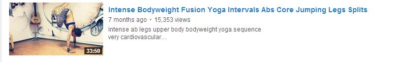 Intense Bodyweight Fusion Yoga Intervals Abs Core Jumping Legs Splits