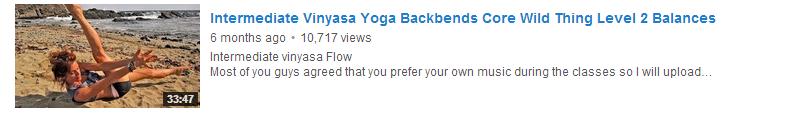 Intermediate Vinyasa Yoga Backbends Core Wild Thing Level 2 Balances
