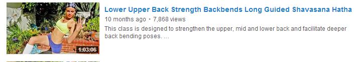 Lower Upper Back Strength Backbends Long Guided Shavasana Hatha