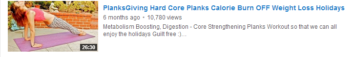 PlanksGiving Hard Core Planks Calorie Burn OFF Weight Loss Holidays