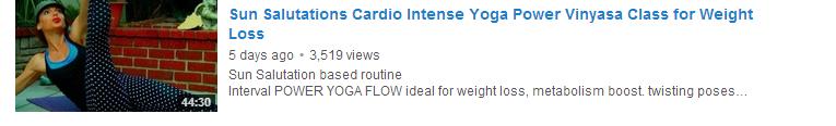 Sun Salutations Cardio Intense Yoga Power Vinyasa Class for Weight Loss