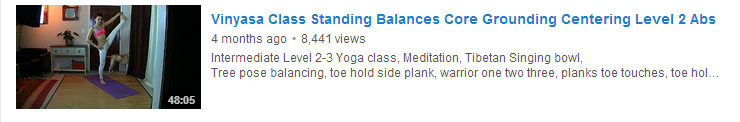 Vinyasa Class Standing Balances Core Grounding Centering Level 2 Abs