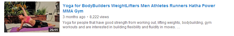 Yoga for BodyBuilders WeightLifters Men Athletes Runners Hatha Power MMA Gym