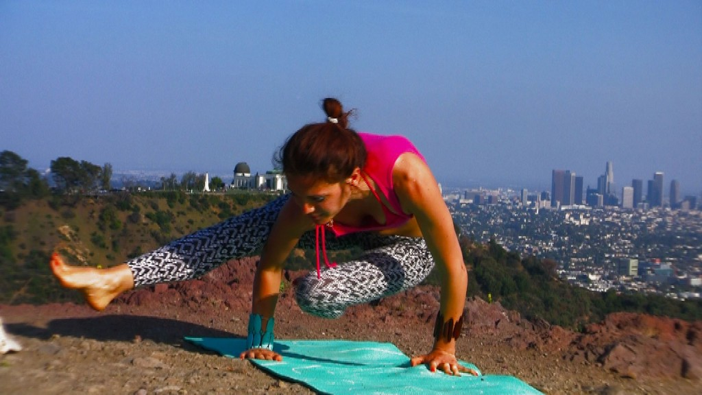 griffith park arm balance yoga transition