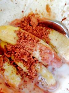 bananas cocoa coconut milk