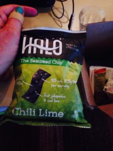 ocean's halo chili lime  seaweed chips