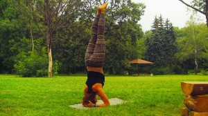 yoga headstand tutorial lesson
