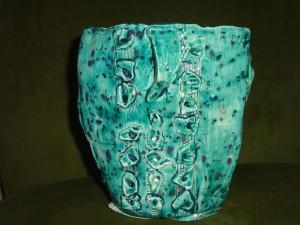 laura turquoise vase