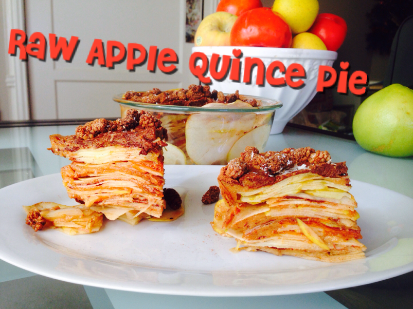 raw quince apple pie thumb