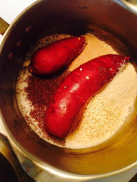 sweet potatoes indian millet amaranth rice