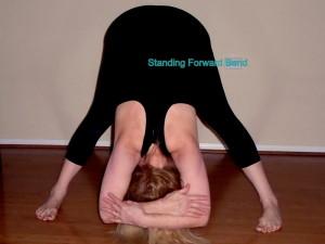 standing forward bend laura