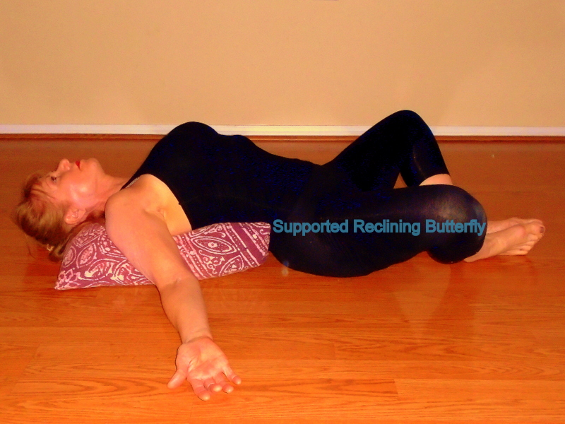 supported reclining butterfly