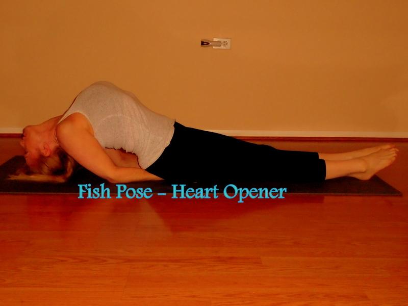 fish pose heart opener laura