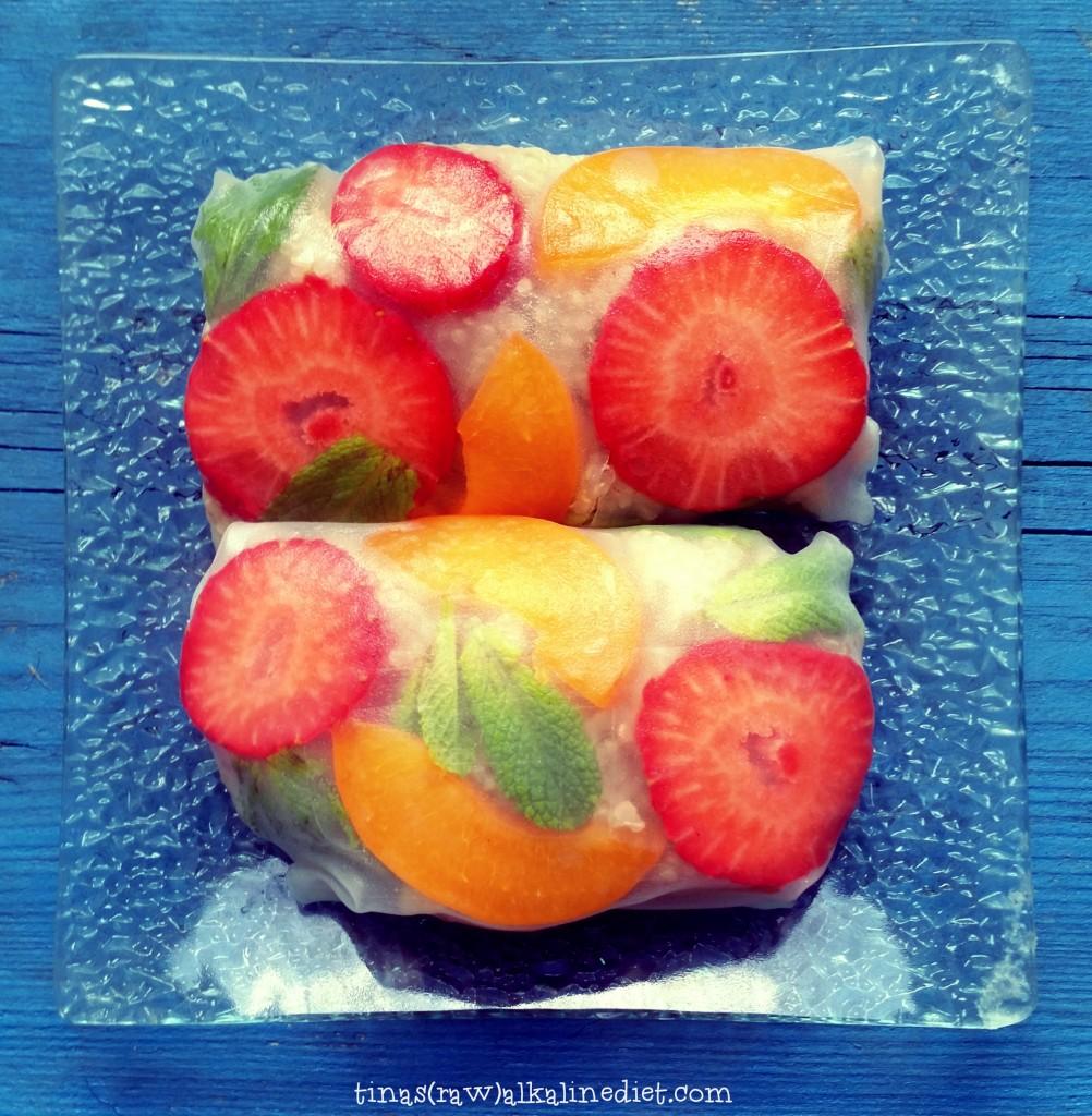 sweet rice paper rolls