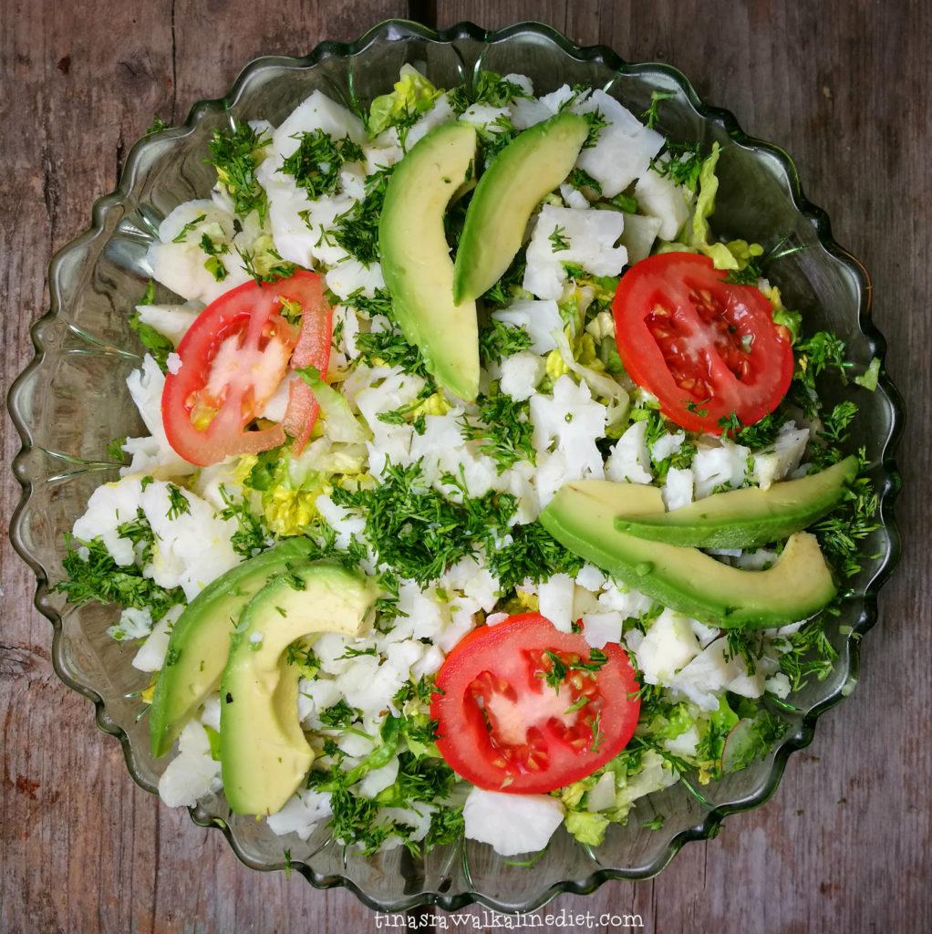 salade groene schaal