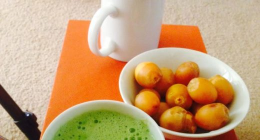 fresh dates and matcha